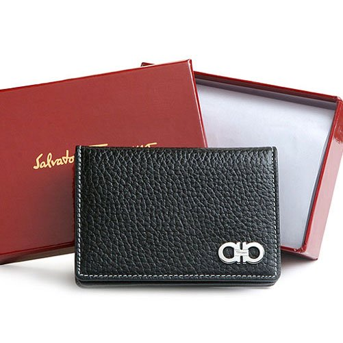 Salvatore Ferragamo Gancini Logo Business/Credit Card Wallet