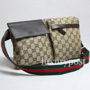 Classic Gucci Unisex Waist Belt Bag 28566