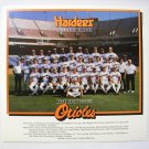 1986 Hardee's BALTIMORE ORIOLES Team Picture/ Cal Ripkin, Jr., Fred Lynn/ MLB