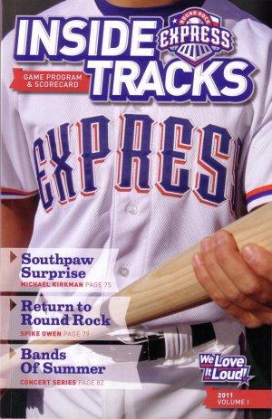 2011 Round Rock Express Program Scorecard/ AAA Texas Rangers
