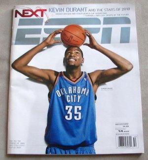 ESPN MAGAZINE Dec 14, 2009/ Kevin Durant Cover/Oklahoma City Thunder