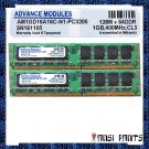 ADVANCE MODULES 2x1GB DDR PC-3200 DRAM 2GB 400MHZ RAM