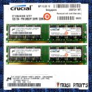 CRUCIAL 2x1GB PC3200 CL3 SDRAM 2GB 184pin 400MHZ RAM