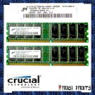 CRUCIAL 2x256MB PC-3200 CL3 SDRAM 512MB 400MHZ DDR RAM