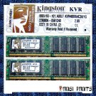 KINGSTON 2x1GB DDR PC-3200 SDRAM 2GB 400MHZ RAM MEMORY