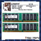 KINGSTON 2x1GB DDR PC2100 SDRAM 2GB 266MHZ RAM MEMORY