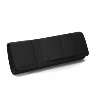 Black Satin Ribbon Bow Clutch