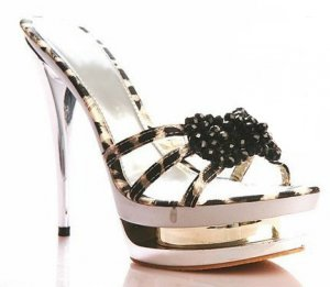 Leopard Split Platform Heels