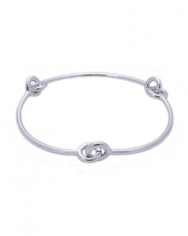 Silver Metal Bangle Bracelet