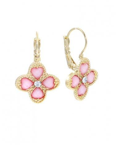 Pink Clover Earrings