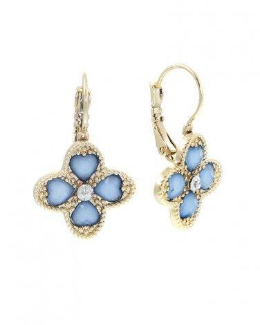 Blue Clover Earrings