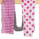Pink & Black Striped Polka Dot Scarf