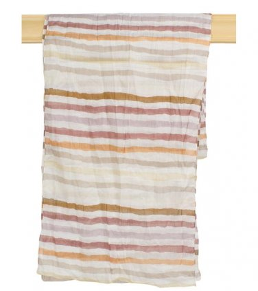 Taupe Neutral Striped Scarf
