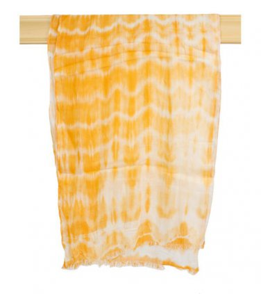 Orange Tie Dye Scarf