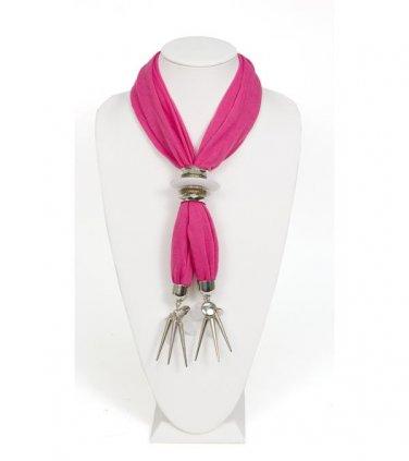 Pink Bejeweled Scarf