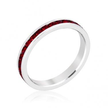 Red Swarovski Eternity Ring - Size 8