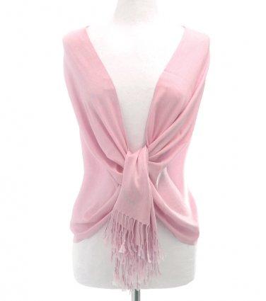 Pink Fringe Pashmina