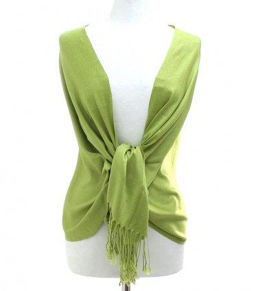 Green Fringe Pashmina