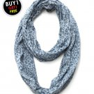 Blue Leopard Printed Infinity Scarf