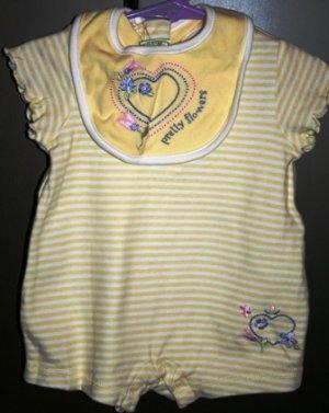 Sprockets Baby Onesie w/ Bib 3-6 months NWOT
