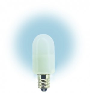 120 Volt T6 Candelabra Screw E12 Base LED Light Bulb 0.72 Watt Color White #L20120CS-W