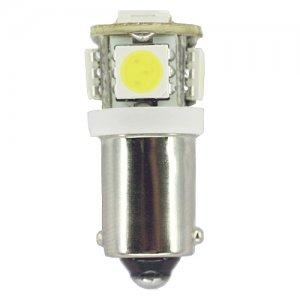(Pack of 2) T3 1/4 Miniature Bayonet (BA9s) 8.2 Watt LED Light Bulb Color White #L120V-MB-W