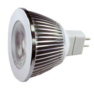 MR16 3 watt GU5.3 base White - LMR16-3-W