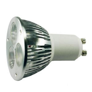 (Pack of 2)MR16 GU10 base 3 watt White LED Light Bulb - LGU10-345-W