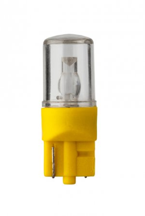 6.3 Volt.T3 1/4 Wedge Base LED Light Bulb 0.47 Watt Color Amber - LM1006WB-A