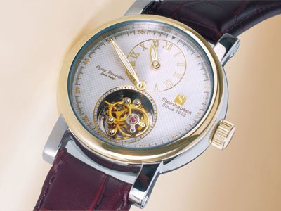 Steinhausen Tourbillon Mechanical Watch (Gold) # TW 521 G
