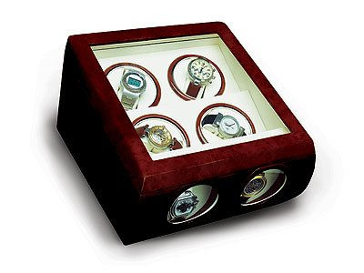 Steinhausen Quad Watch Winder (Cherrywood)v #TM 481 E