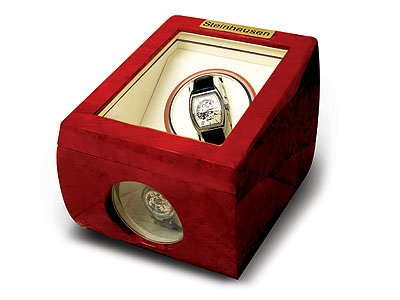 Steinhausen Single Watch Winder (Cherrywood) # TM 483 E