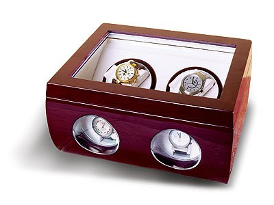 Steinhausen Dual Watch Winder (Cherrywood # TM 513 E