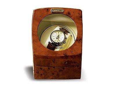 Steinhausen Single Watch Winder w/ Timer(Burlwood) # TM 515 A