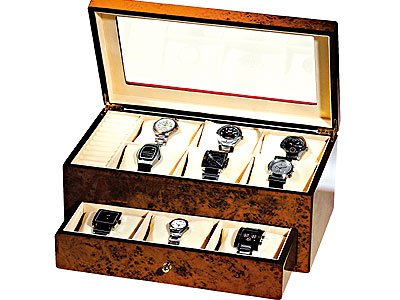 Burlwood Watch Storage Case (Small) # TM308 A