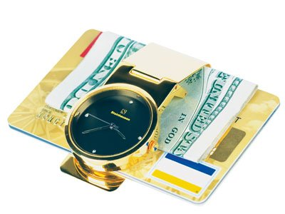 Steinhausen Time'n Money Clip (Gold/Black) # TM 335 G