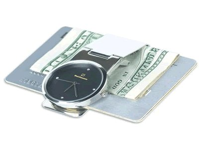 Steinhausen Time n Money Clip (Silver/Black) #TM 335