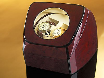 Steinhausen Compact Dual Watch Winder (Brown) # TM 515 DE