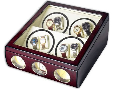 Steinhausen Watch Winder (8+3 Dark Cherry) # TM 542 DE