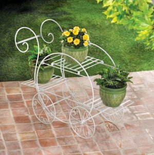 French Flower Cart Plant Stand -- FREE SHIPPING