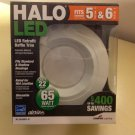 QTY 2 - Halo Recessed RL560WH-R 5 & 6-Inch All-Purpose LED Retrofit Module Trim