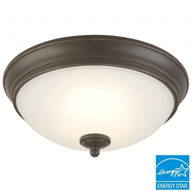 Commercial Electric 11 inch Oil Rubbed Bronze LED Energy Star Flushmount