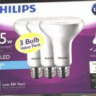 Qty 3 (1x3 Pack) - Philips 65W Daylight BR30 Dimmable LED Flood Light Bulb