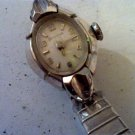 VINTAGE 1961 10KT WHTGP LADIES COCKTAIL WATCH RUNS