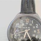 BLACK DIAL ACC DUAL 12-24HR DIAL QUARTZ WATCH RUNS