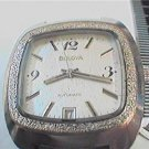 UNUSUAL SQUARE CASE 1974 BULOVA AUTO DATE WATCH 4U2FIX