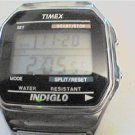 UNIQUE TIMEX INDIGLO SQUARE LCD WATCH RUNS