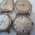 LOT OF 4 TIMEX AUTOMATIC WATCH 4U2FIX 3 WITH DATES SEEM TO RUN WHEN SHAKEN 4FIX