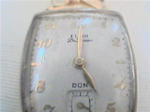 VINTAGE ELGIN DELUXE DON SQUARE WATCH 4U2FIX