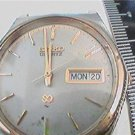 VINTAGE GREY AND YELLOW STEEL CASE SEIKO WATCH 4U2FIX